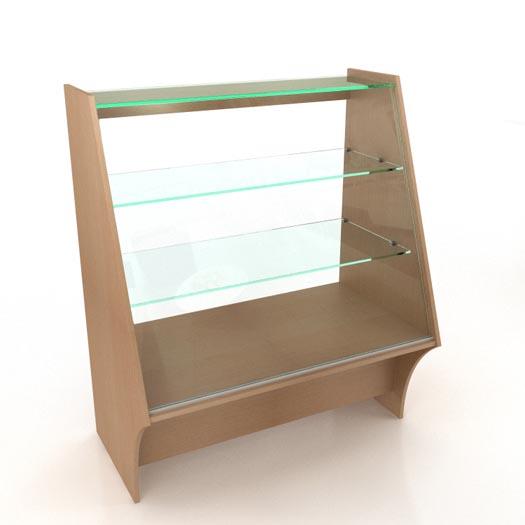 Стеклянный прилавок (1000х625х1200)