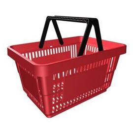 Покупательская корзина 27 л. (пластик)